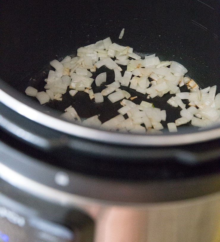 Onion in an instant pot