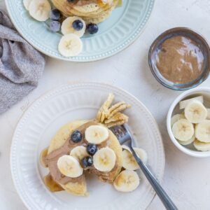Gluten-free sourdough pancakes made with no additional flour! Using sourdough discard and a few basic ingredients, you can make the easiest pancakes that are low-carb and big on sourdough flavor. You won't believe how moist, soft and flavorful these pancakes are!