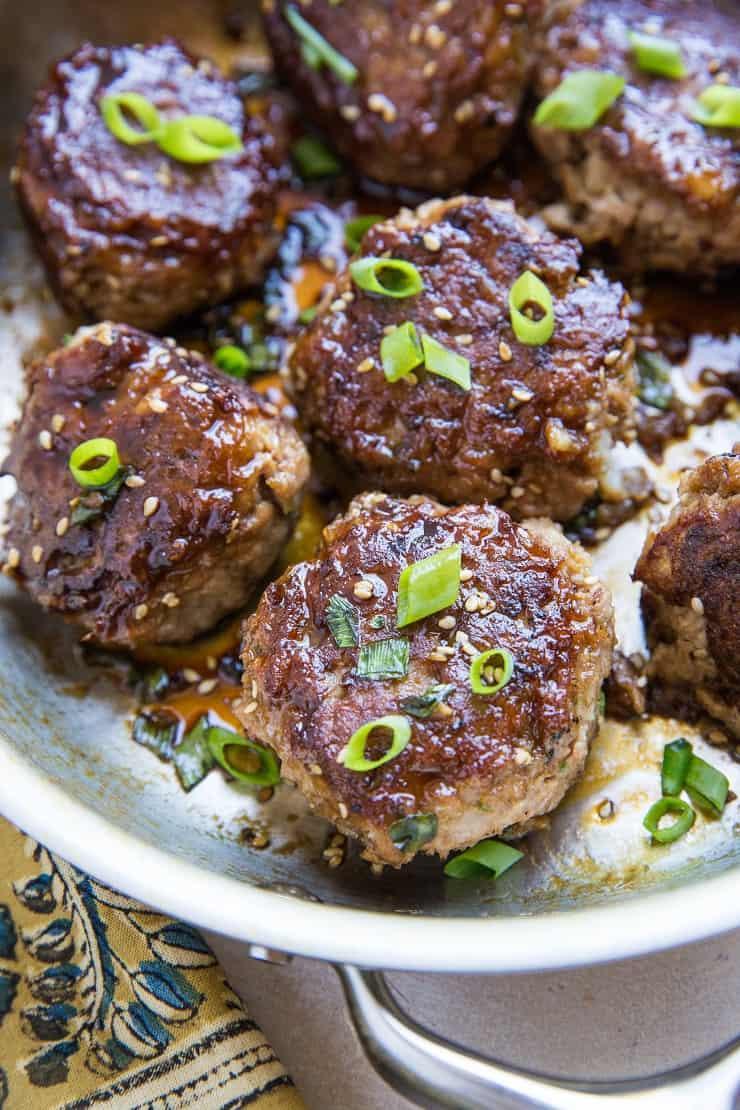 Easy Paleo Teriyaki Turkey Meatballs - soy-free, refined sugar-free, gluten-free, and healthy