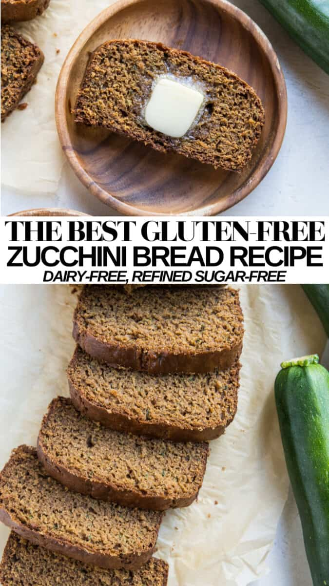 The BEST Dairy-Free and Gluten-Free Zucchini Bread Recipe - moist, fluffy, refined sugar-free, and healthy