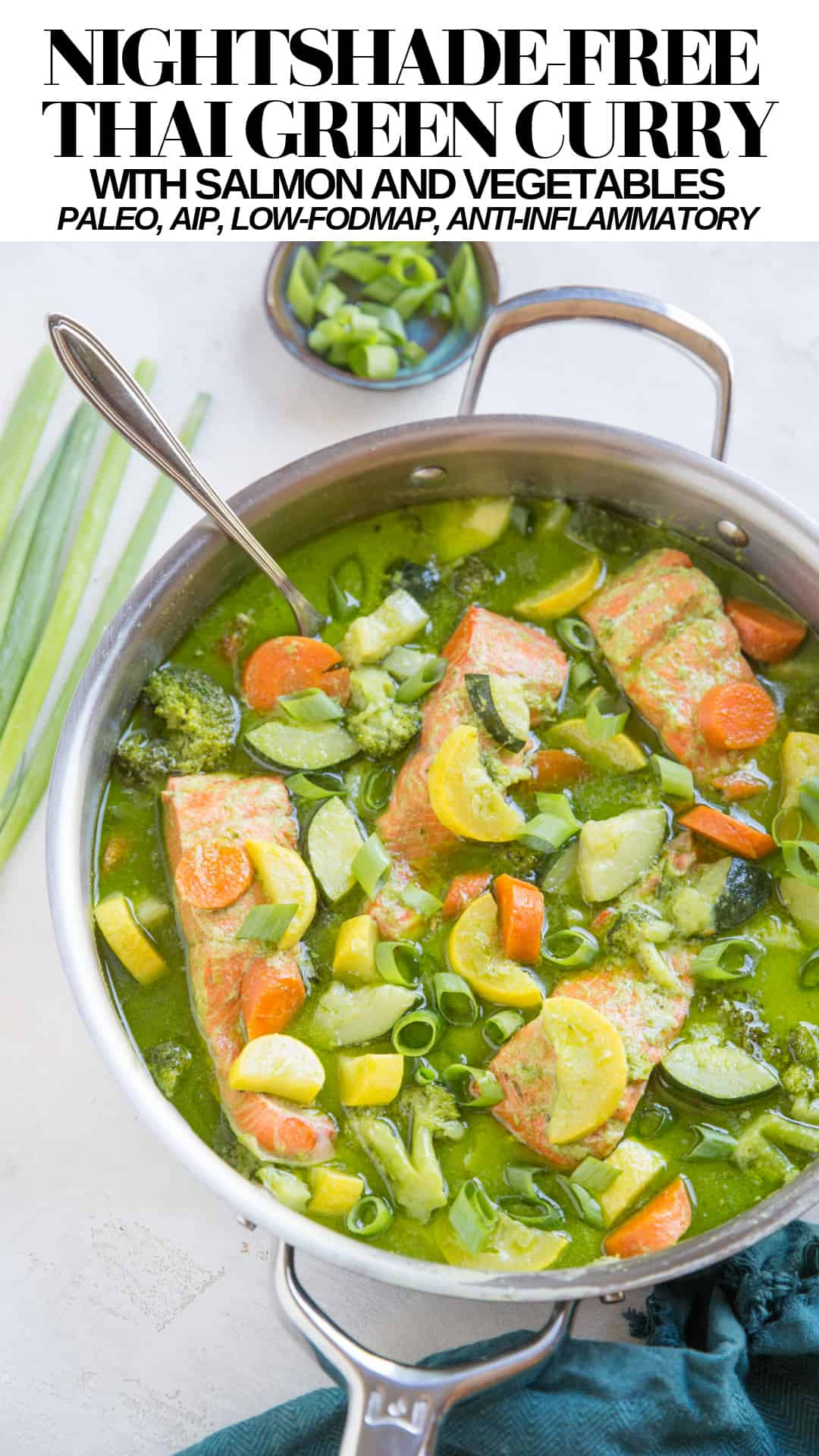 Nightshade-Free AIP Thai Green Curry - Low-FODMAP, keto, paleo, whole30 curry recipe that is anti-inflammatory and immunity boosting!