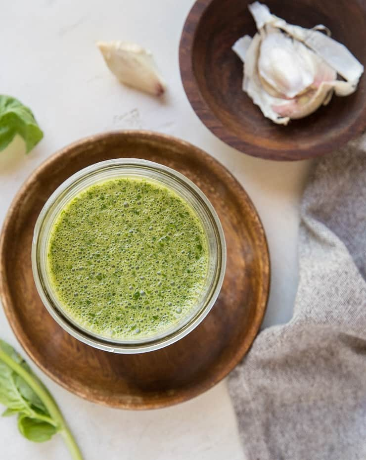 Basil Marinade for chicken, pork, seafood, or beef - an easy goof-proof marinade for any protein and any cooking method