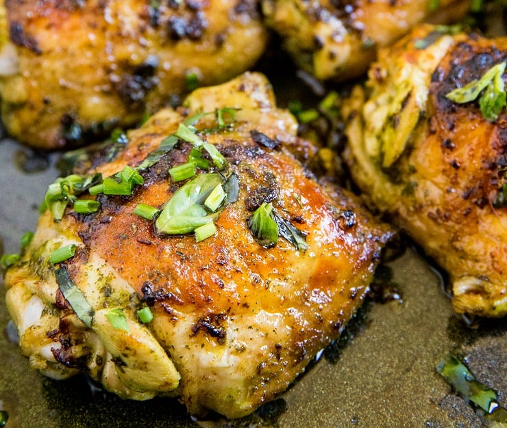 Basil Chicken Marinade for grilled or baked chicken