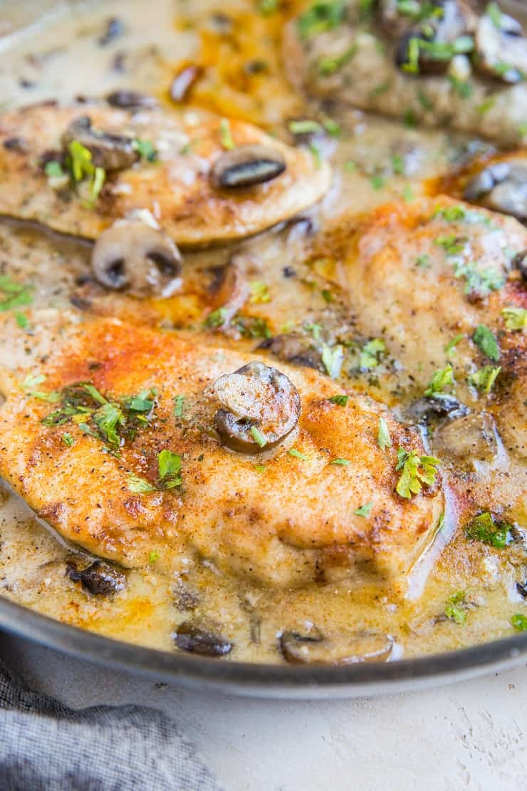 Chicken Marsala made in one skillet - gluten-free, dairy-free and healthy