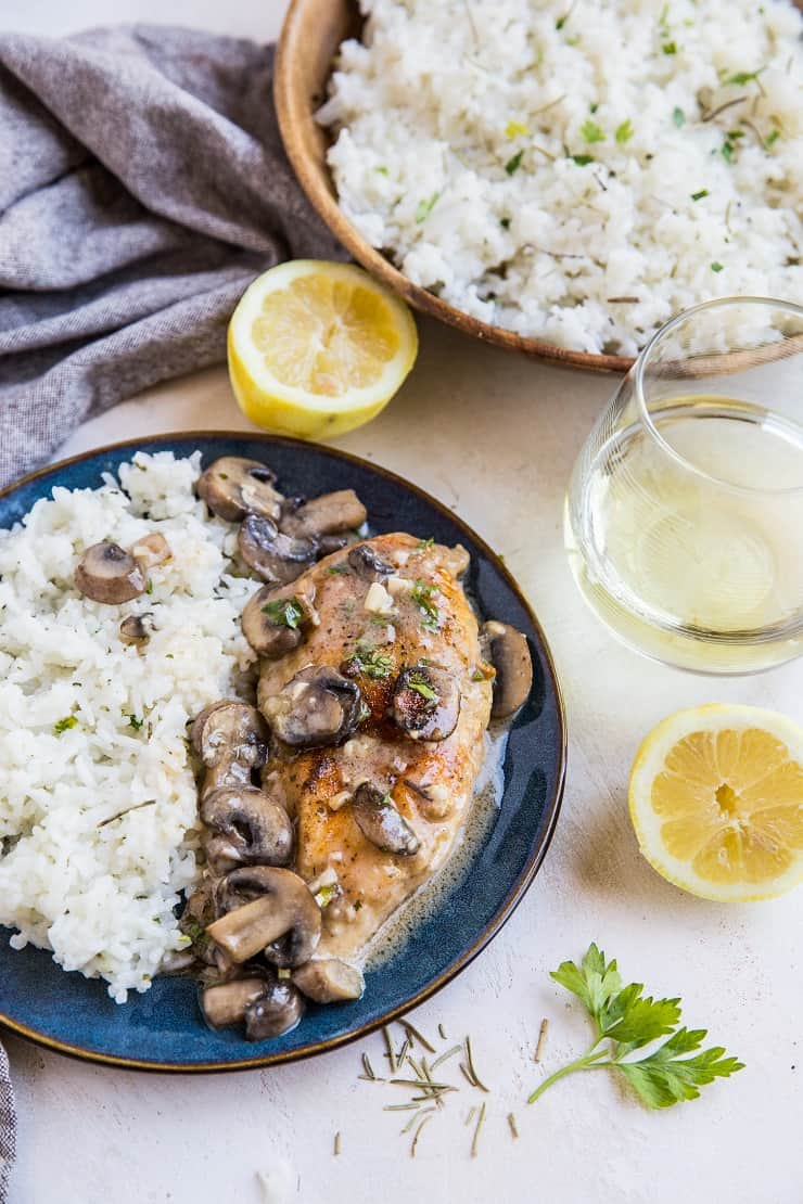 Zesty Lemon Garlic Rosemary Rice and Chicken Marsala