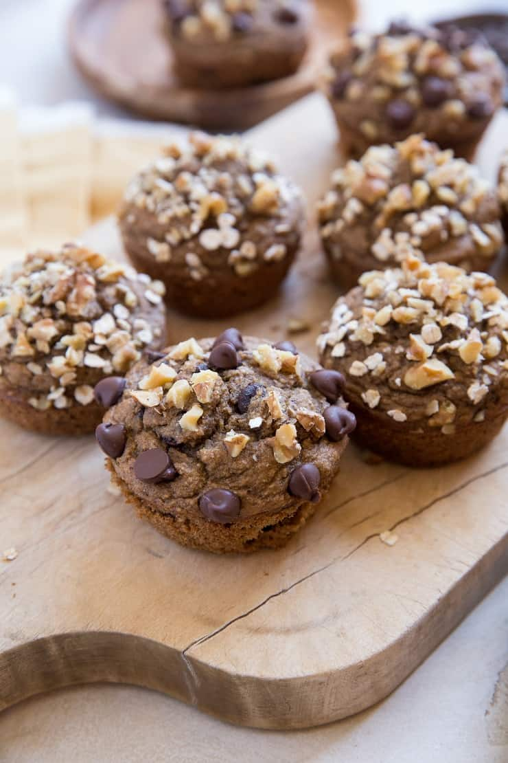 Gluten-Free Flourless Banana Nut Muffins - oil-free, dairy-free, healthy and delicious
