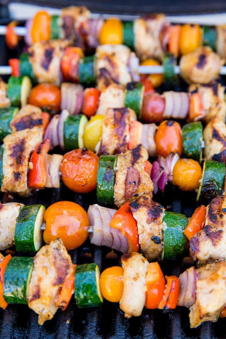 Grilled Chicken Kabobs with Vegetables - tasty marinated chicken for perfect grilling
