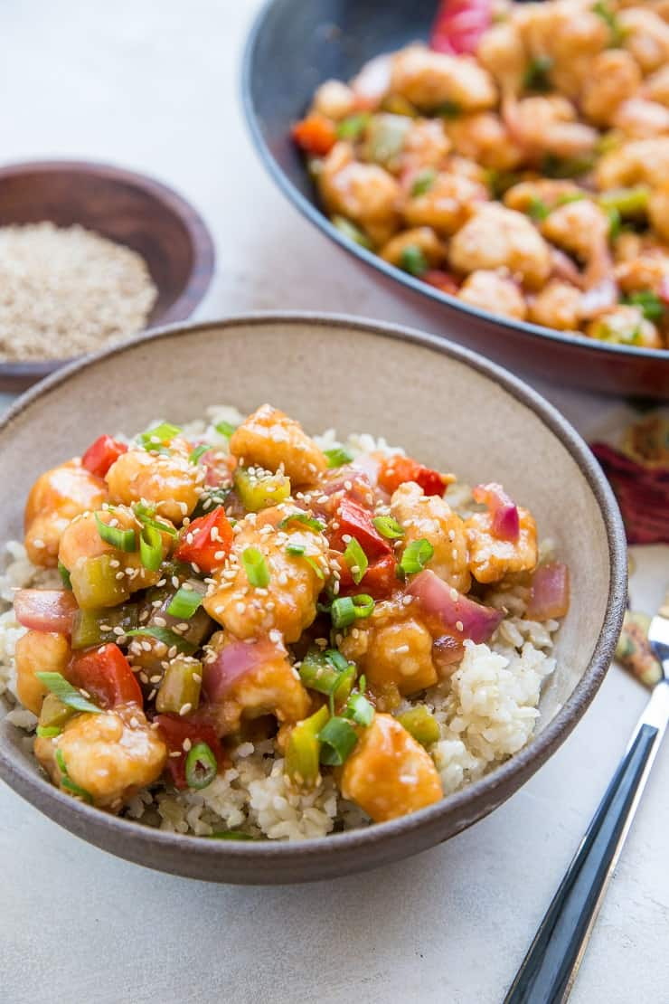 Paleo Sweet and Sour Chicken made grain-free, soy-free and refined sugar-free