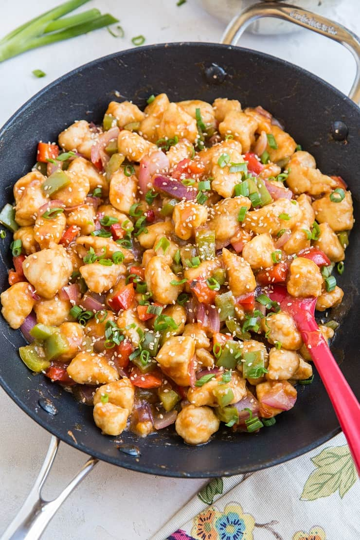 Hea;thy Paleo Sweet and Sour Chicken - grain-free, refined sugar-free and soy-free
