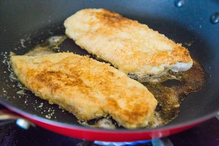 Pan-Fried Breaded Chicken for Chicken Parmesan