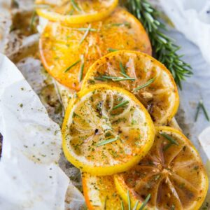 Fish en Papillote with Butter, Lemon, Garlic and Rosemary - a healthy, whole30, paleo dinner recipe - low-carb and keto