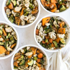 Meal Prep Chicken and Vegetables - a paleo, low-carb, whole30 big batch meal prep recipe that makes 5 to 7 lunches or dinners