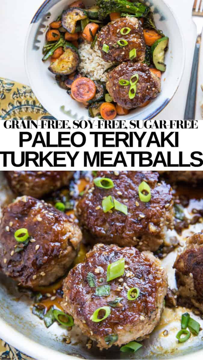 Teriyaki Turkey Meatballs - Paleo - soy-free, refined sugar-free, gluten-free, grain-free