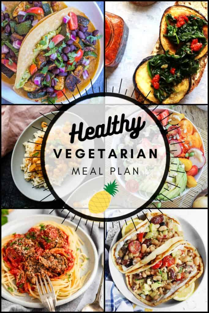 Healthy Vegetarian Meal Plan with vegan and gluten-free options