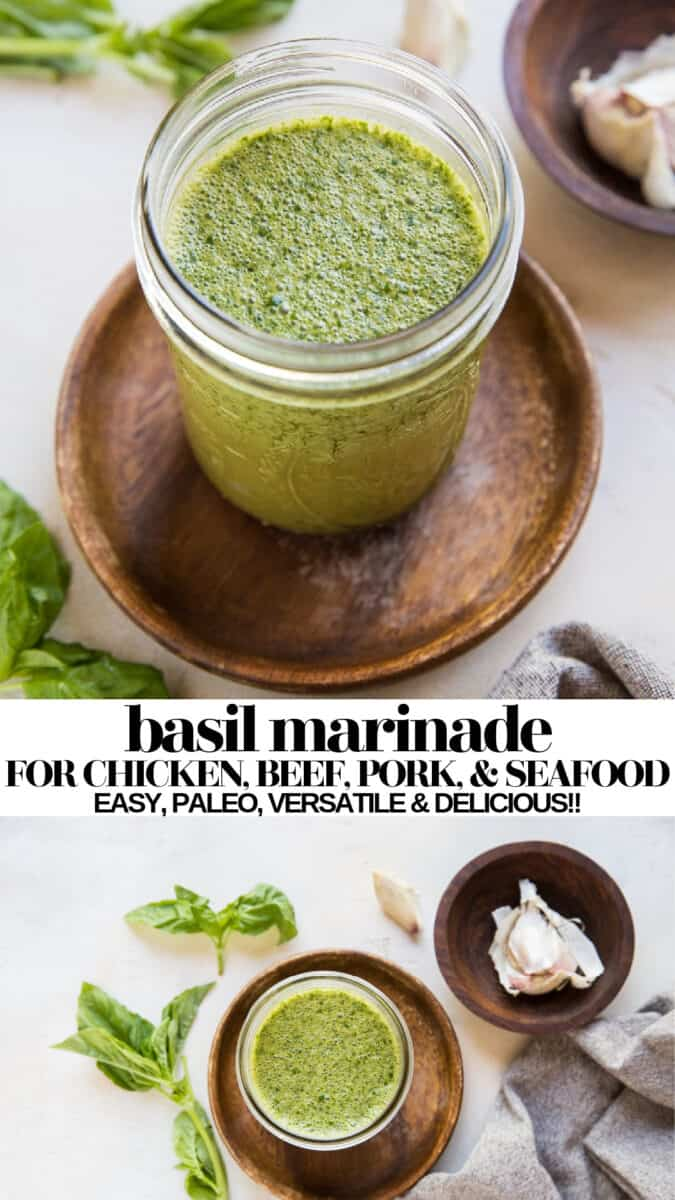 Basil Marinade for chicken, pork, beef, or seafood! paleo, easy, versatile and delicious!