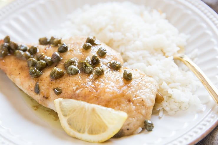 Quick and easy gluten-free chicken piccata