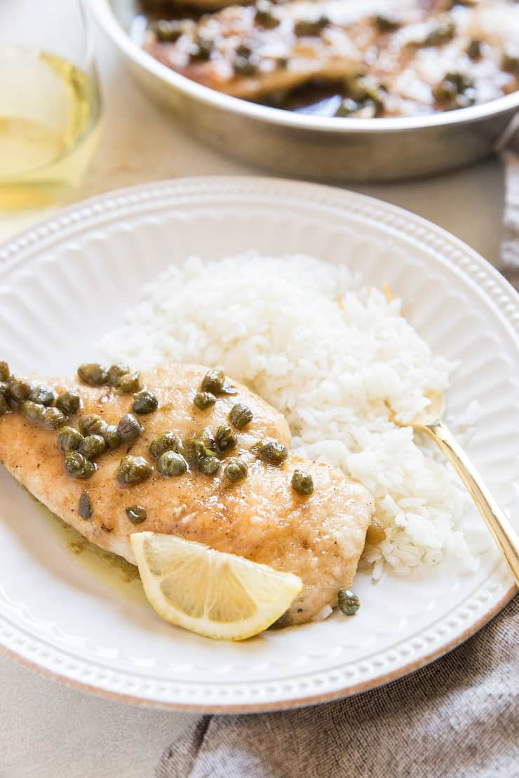 Gluten-Free Chicken Piccata - a quick and easy recipe for chicken piccata