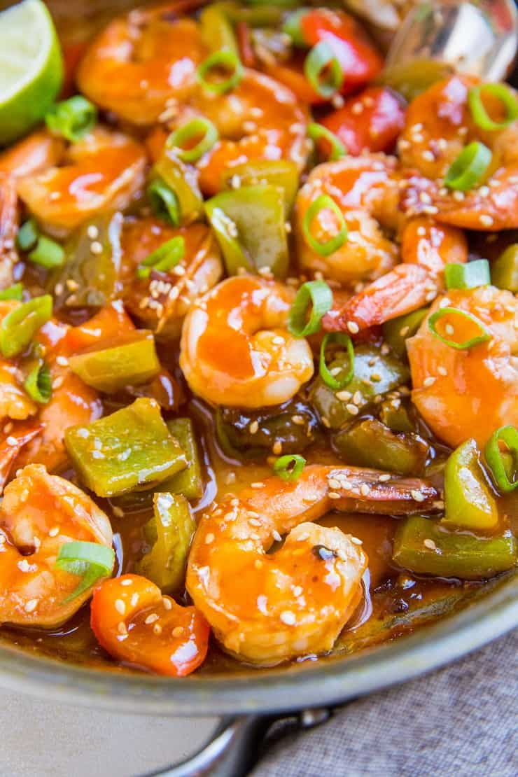 Paleo Sweet and Sour Shrimp - healthy sweet and sour shrimp recipe that is soy-free, refined sugar-free, and delicious!