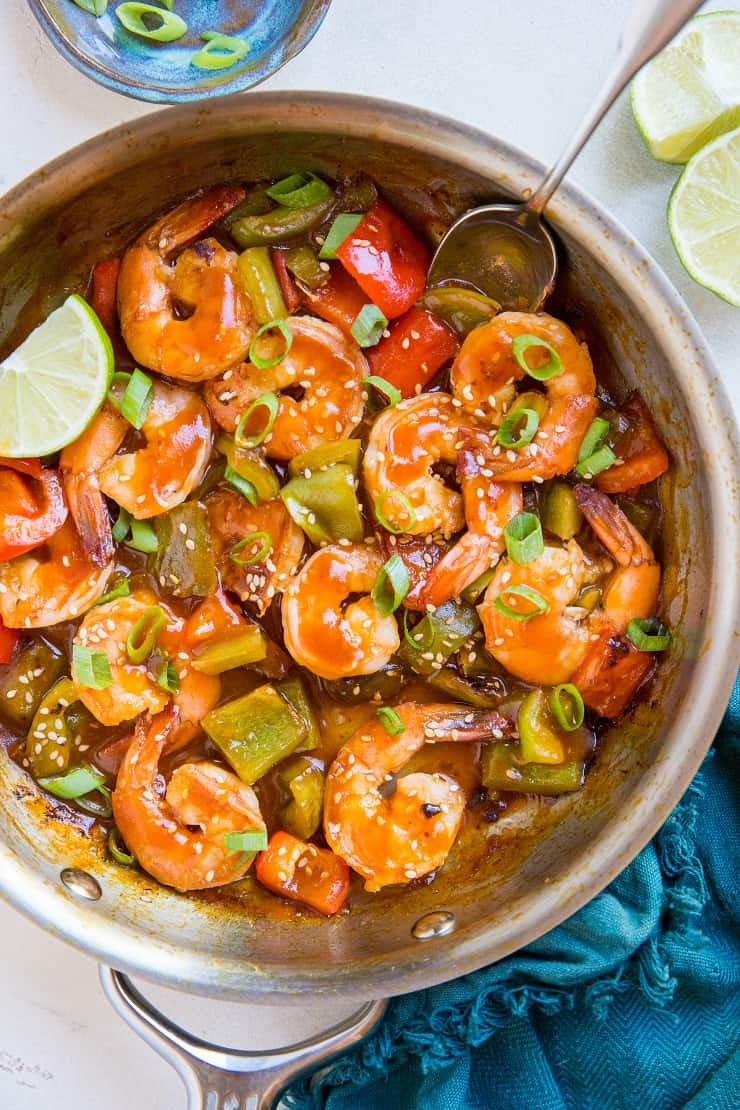 Healthy Sweet and Sour Shrimp - soy-free, refined sugar-free and paleo