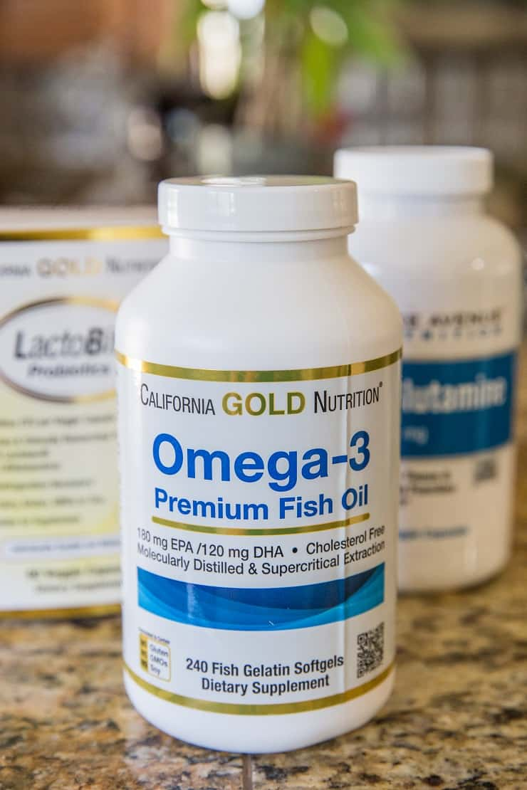 Omega-3 fish pills plus more supplements for gut health
