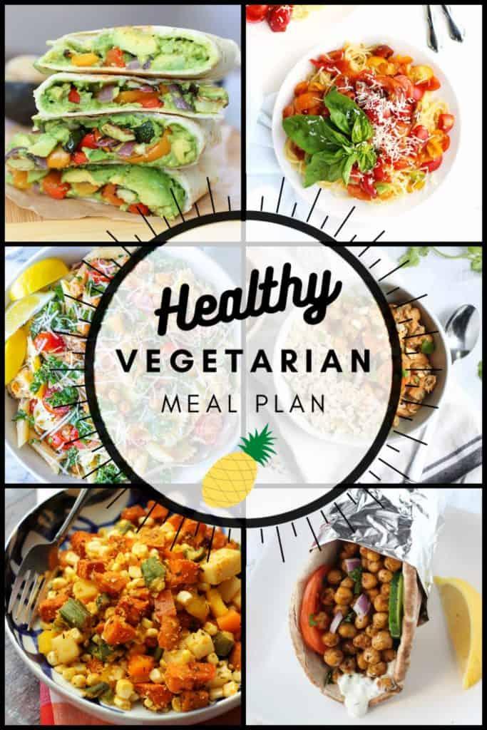 Healthy Vegetarian Meal Plan for week of 08.29.2020