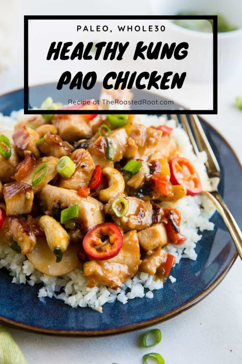 Paleo Kung Pao Chicken - grain-free, refined sugar-free, soy-free variation of Kung Pao Chicken for a fresh, better-than-takeout experience! #paleo #whole30 #chickenrecipe #dinner