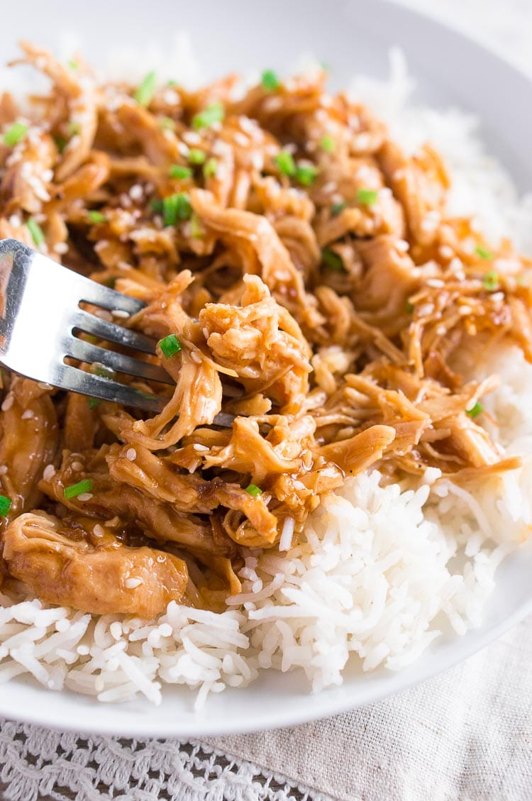 Instant Pot Honey Sesame Chicken from Delicious Meets Healthy - Tangy, sweet shredded chicken in a delicious sauce is marvelous for whipping up any night of the week!