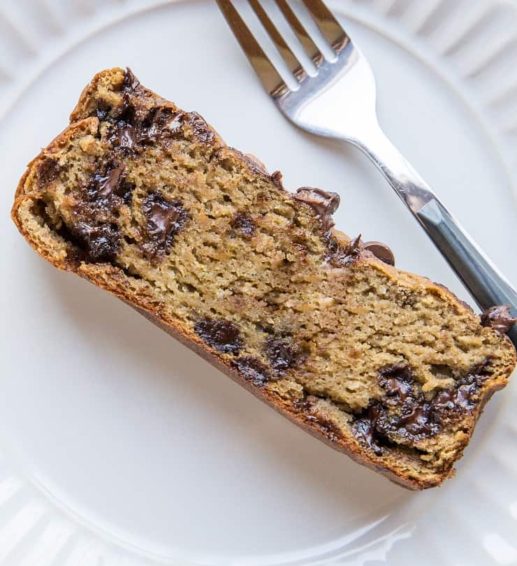 Flourless Garbanzo Bean Banana Bread - gluten-free banana bread made refined sugar-free, dairy-free with chickpeas!
