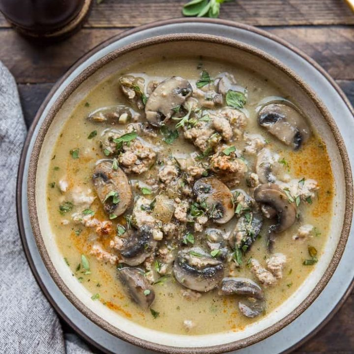 Dairy Free Cream Of Mushroom Soup With Ground Turkey The Roasted Root