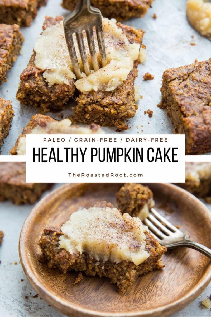 Healthy Grain-Free Paleo Pumpkin Cake with Maple Glaze - gluten-free, refined sugar-free, dairy-free, healthy cake recipe. Paleo Pumpkin Cake recipe made with almond flour #healthy #pumpkin #pumpkinspice #glutenfree #grainfree #breakfast #dessert #recipe