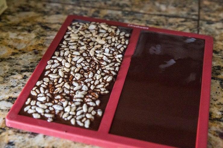 Dark Chocolate in chocolate molds