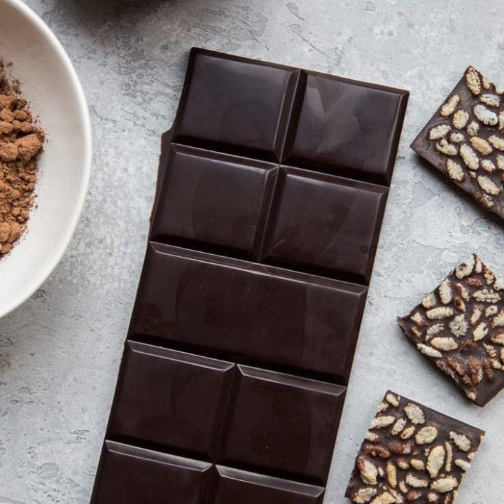How to Make Chocolate - a tutorial on making homemade dark chocolate or milk chocolate using a few basic ingredients. Vegan, paleo, dairy-free, refined sugar-free