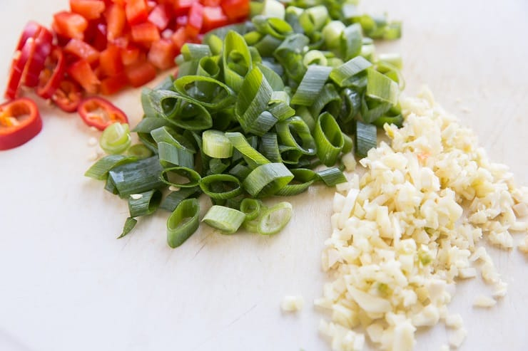 vegetables for kung pao chicken