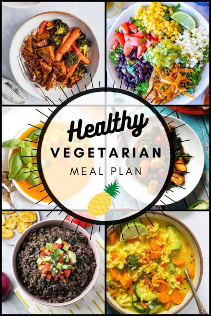 Vegetarian Meal Plan week of 08.13.2020