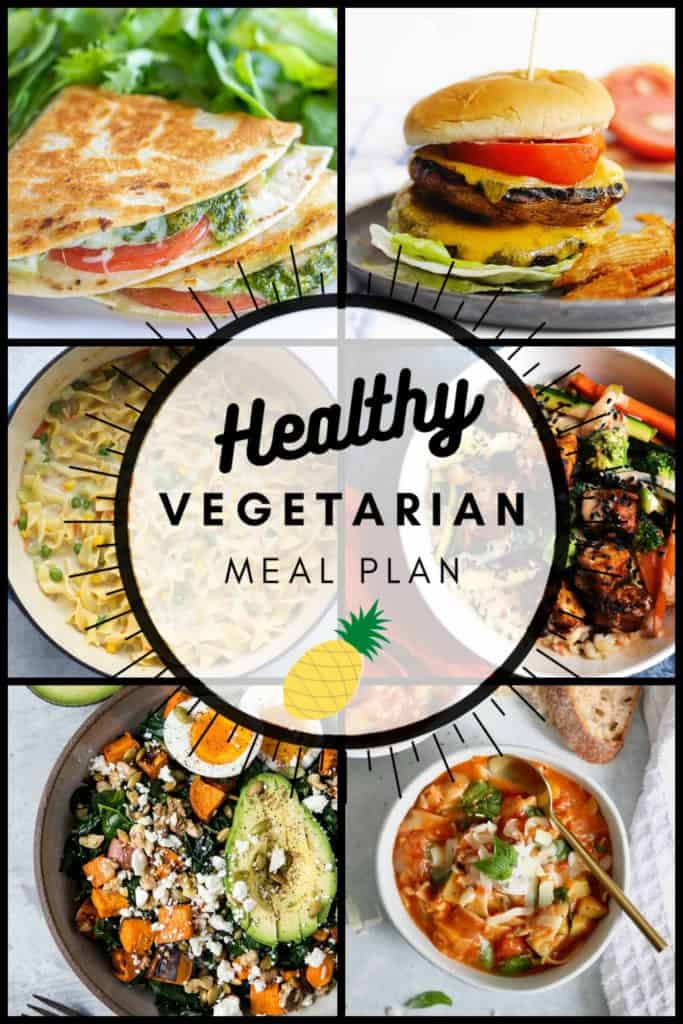 Healthy Vegetarian Meal Plan for the week of 09.06.2020 - a plant-=based meal plan with gluten-free and vegan options