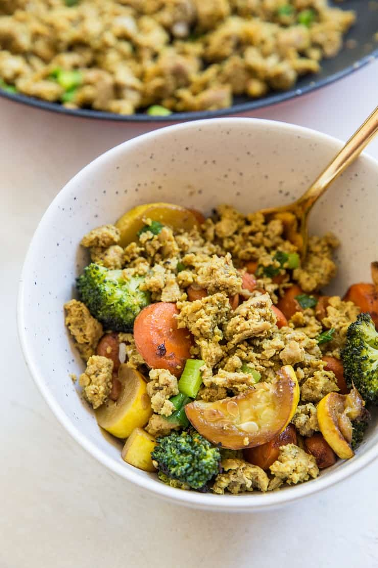 Turmeric Ginger Ground Turkey Bowls - whole30, paleo, AIP, keto, low-carb, low-fodmap, healthy and delicious!