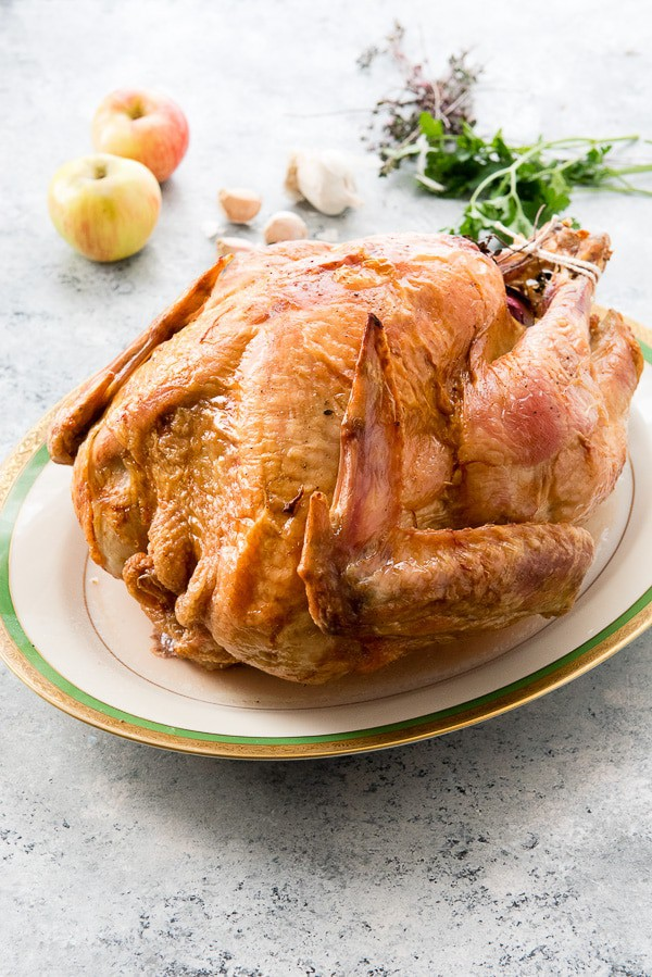 Easy Roast Turkey from Boulder Locavore - No brining or advance prep is needed for this super easy turkey recipe! This recipe post includes everything you need to know about cooking a Thanksgiving turkey, AND includes a unique tip!: flipping the turkey half-way through! Check it out to learn how to make turkey the easy way.