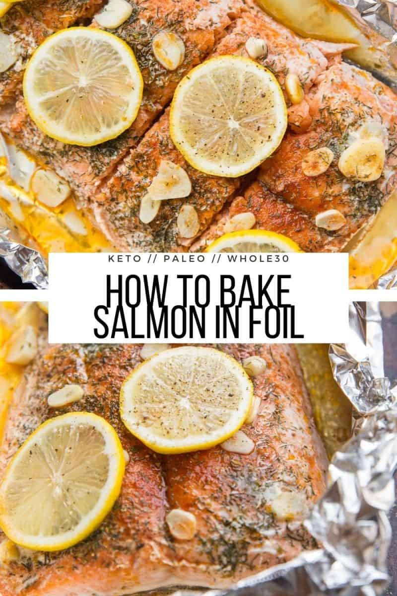 Salmon Baked in Foil with garlic and lemon - an easy healthy dinner recipe that is low-carb, paleo, and whole30