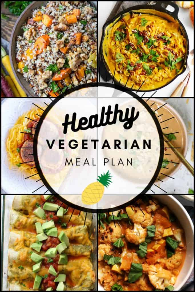 Vegetarian Meal Plan October 2020