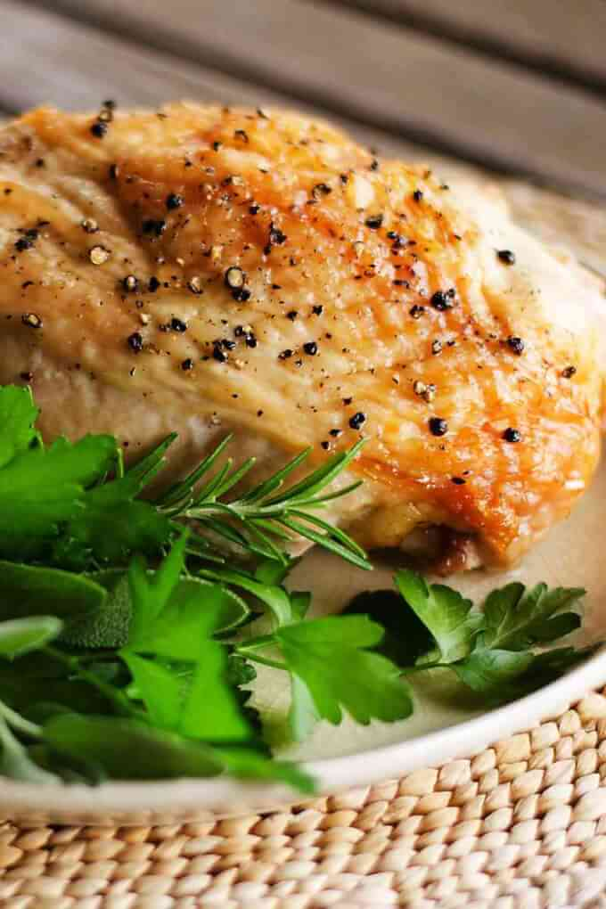 Easy Roast Turkey Breast from Cook Eat Paleo - only a TWO ingredients are needed for this amazing turkey breast recipe! Using duck fat and sea salt, we end up with a flavorful breast that couldn't be any easier to prepare!