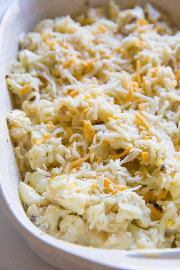 Sprinkle creamy cauliflower with more cheese