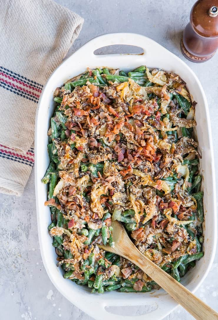 Low-Carb Green Bean Casserole - keto-friendly made dairy-free and gluten-free