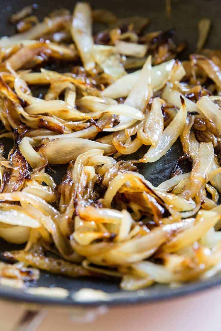 Caramelized onions for green bean casserole