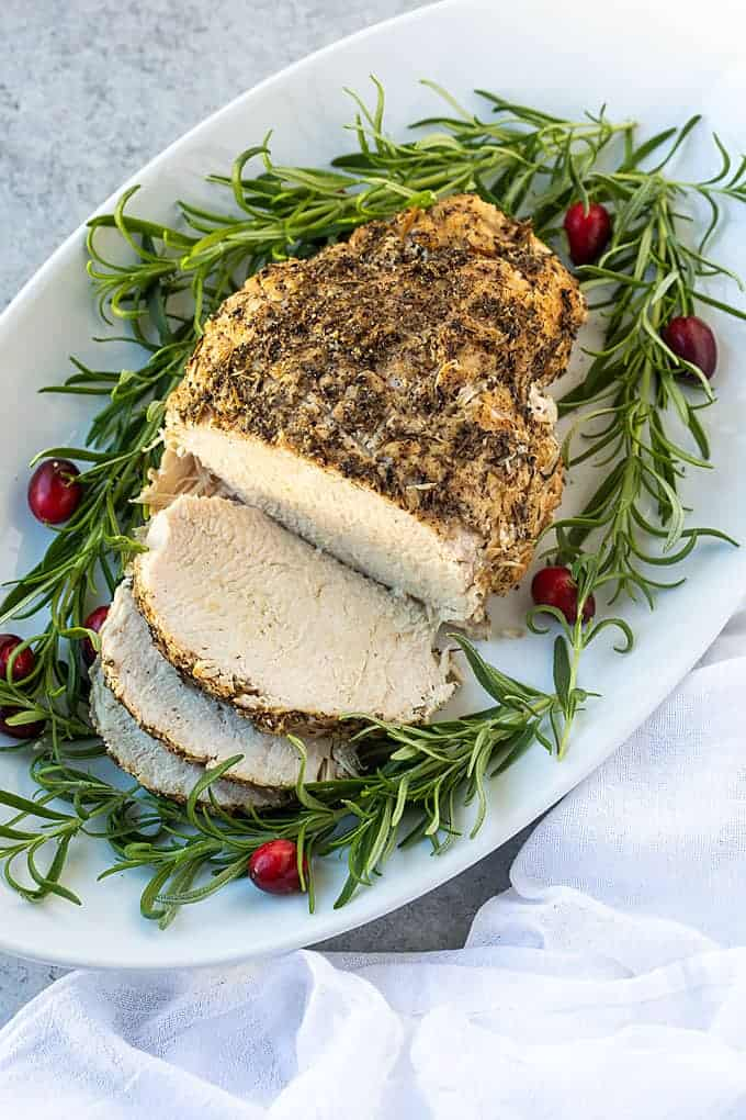 Instant Pot Frozen Turkey Breast from The Blond Cook - So incredibly moist and tender, this Instant Pot Frozen Turkey Breast (and gravy!) is prepared in a fraction of the time than traditional baking.