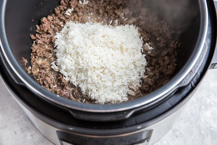 Add the white rice