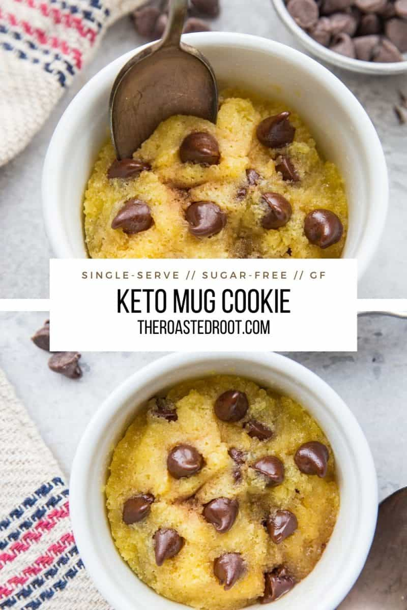 Keto Mug Cookie Two Ways The Roasted Root