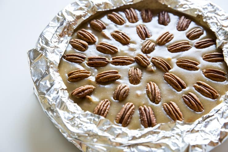 Cover the edges of the pie crust with foil so they don't burn while the pie bakes