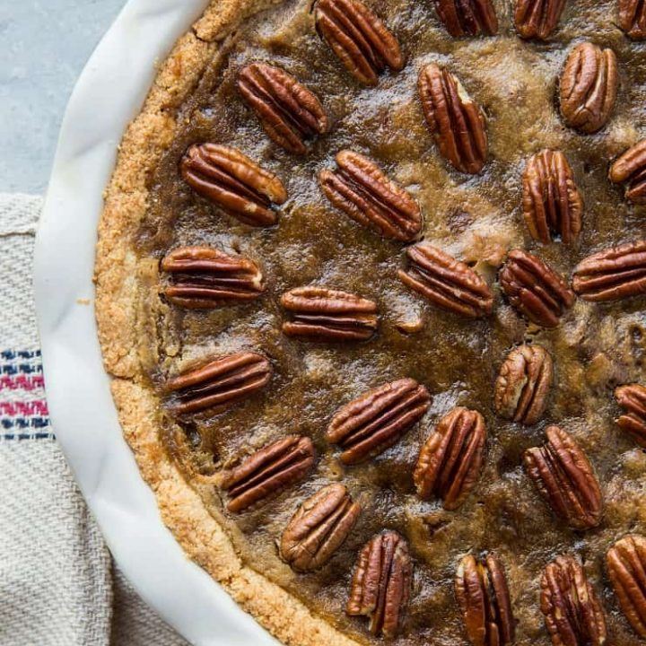 Keto Pecan Pie - sugar-free, dairy-free, low-carb, grain-free, healthy pecan pie recipe