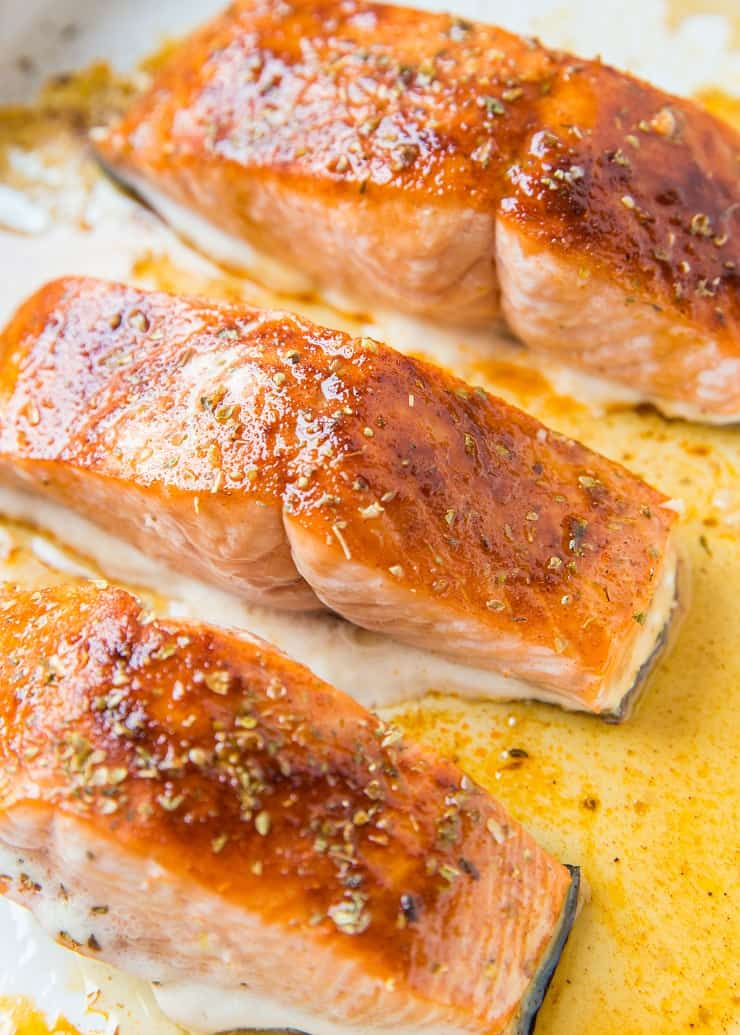 Quick and Easy Maple-Glazed Salmon made in less than 30 minutes with just a few ingredients for a healthy dinner recipe