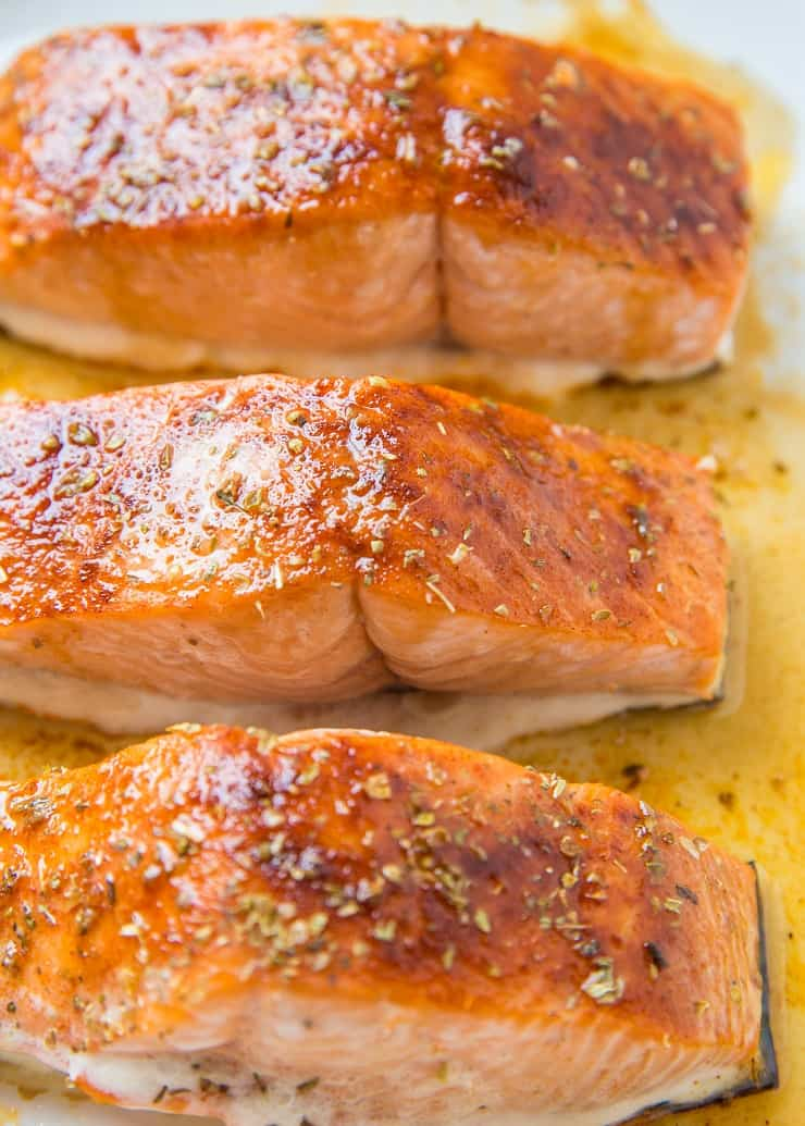 Maple-Glazed Baked Salmon is an amazing easy dinner recipe. Glazed salmon is easy to prepare and only requires a few basic ingredients